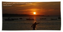 Fun At Sunset/ Inspirational Beach Sheet