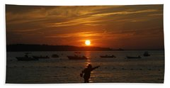 Fun At Sunset Beach Towel