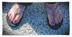 Fun Feet Beach Sheet by Emmy Marie Vickers