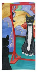 Fun House Skinny Cat Beach Towel