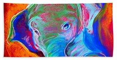 Funky Baby Elephant Blue Beach Sheet