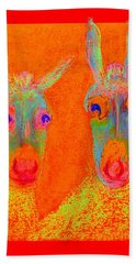 Funky Donkeys Art Prints Beach Sheet
