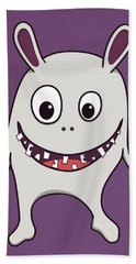 Funny Crazy Happy Monster Beach Towel