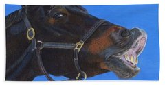 Funny Face - Horse And Child Beach Sheet
