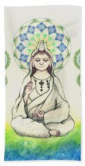 Fureai Quan Yin In Kyoto Beach Towel