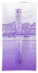 Furman Bell Tower Beach Towel by Greg Joens