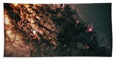 Galaxy Centaurus A Beach Sheet by Jennifer Rondinelli Reilly - Fine Art Photography