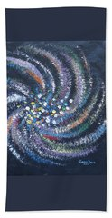Beach Sheet featuring the painting Galaxy Swirl by Judith Rhue