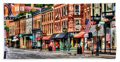 Galena Main Street Early Summer Morning Beach Towel