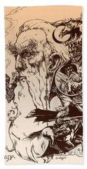 gandalf- Tolkien appreciation Beach Towel