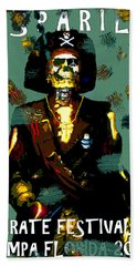Gasparilla Pirate Fest 2015 Full Work Beach Towel
