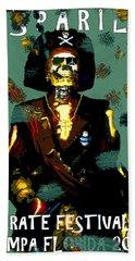 Gasparilla Pirate Fest 2015 Full Work Beach Sheet by David Lee Thompson