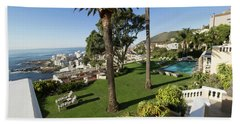 Garden And Pool Of Ellerman House Beach Towel