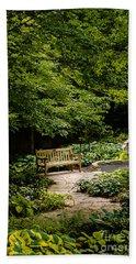Garden Bench Beach Sheet by Joe Mamer