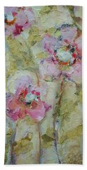 Beach Sheet featuring the painting Garden Bliss by Mary Wolf