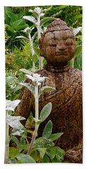 Garden Buddha Beach Towel