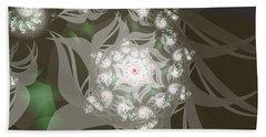 Beach Sheet featuring the digital art Garden Echos by Elizabeth McTaggart