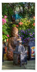 Garden Meditation Beach Towel