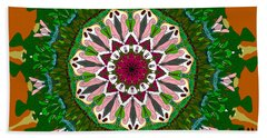 Beach Towel featuring the digital art Garden Party #2 by Elizabeth McTaggart