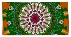 Beach Sheet featuring the digital art Garden Party #2 by Elizabeth McTaggart
