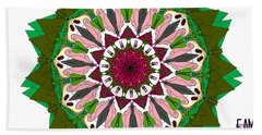 Beach Towel featuring the digital art Garden Party by Elizabeth McTaggart