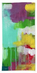 Garden Path- Abstract Expressionist Art Beach Towel by Linda Woods