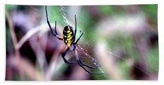 Garden Spider Beach Sheet by Deena Stoddard