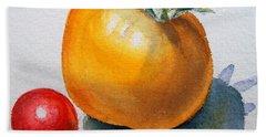 Garden Tomatoes Beach Sheet by Irina Sztukowski