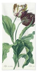 Garden Tulip Beach Towel