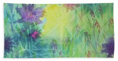 Garden Vortex Beach Sheet by Ellen Levinson