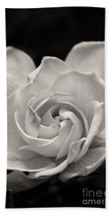Gardenia Bloom In Sepia Beach Towel
