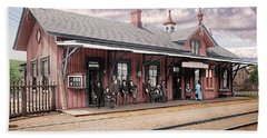 Garrison Train Station Colorized Beach Towel
