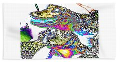 Gator Babes Foiled Beach Towel by Belinda Lee