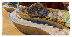 Gaudi's Park Guell Sinuous Curves - Impressions Of Barcelona Beach Towel