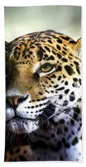 Gazing Jaguar Beach Towel