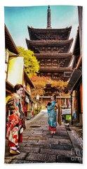 Geisha Temple Beach Towel