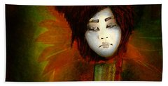 Geisha5 - Geisha Series Beach Towel