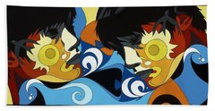 Gemini Painting With Hidden Pictures Beach Towel