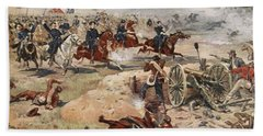 General Sheridans Final Charge Beach Towel