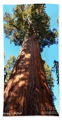General Sherman Tree, Sequoia National Park, California Beach Towel