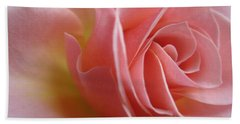 Gentle Pink Rose Beach Towel