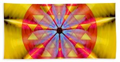 Geo-cosmic Sri Yantra Beach Towel
