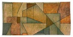 Geometric Abstraction Iv Beach Sheet