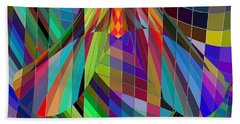 Geometric Alien Fly Beach Towel by Stephanie Grant