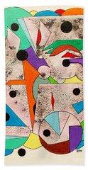 Geometric Conundrum Beach Sheet by Roberto Prusso