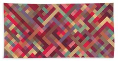 Geometric Lines Beach Towel by Mike Taylor