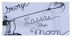 George Lassos The Moon Beach Towel