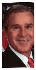 George W Bush Beach Towel by Official Gov Files