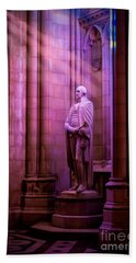 George Washington At The National Cathedral Beach Towel