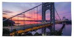 Beach Sheet featuring the photograph George Washington Bridge by Mihai Andritoiu